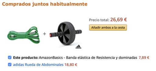 Ejemplo de cross sell en Amazon