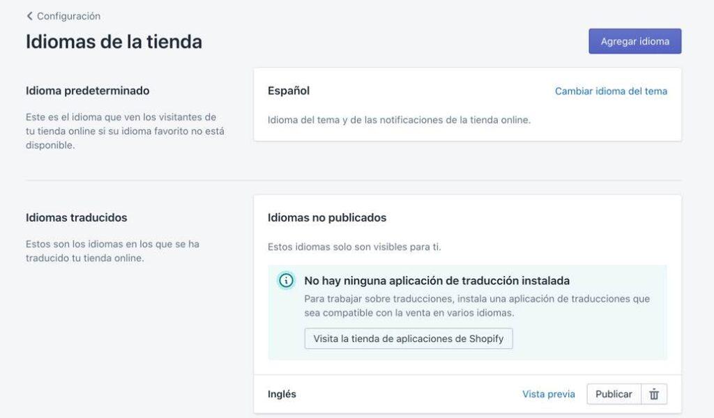 Traducir tienda online de Shopify