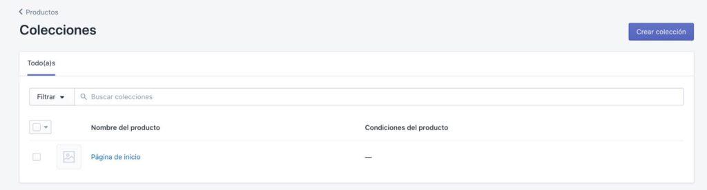 Crear colecciones de productos en Shopify