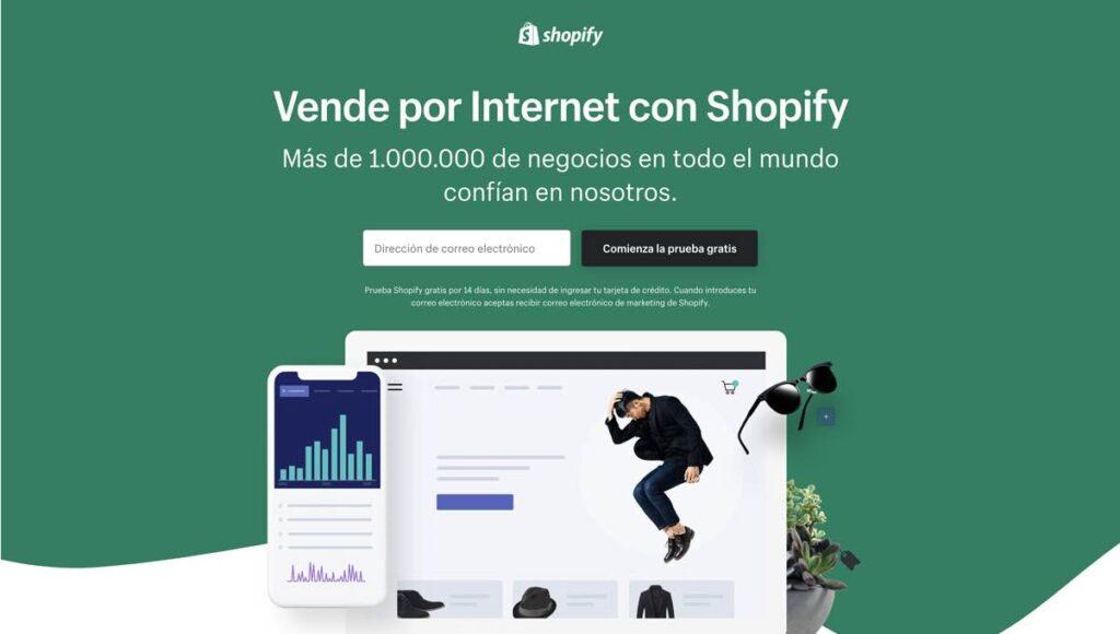 Registrarse en Shopify