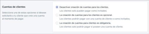 Desactivar la creación de cuenta en Shopify