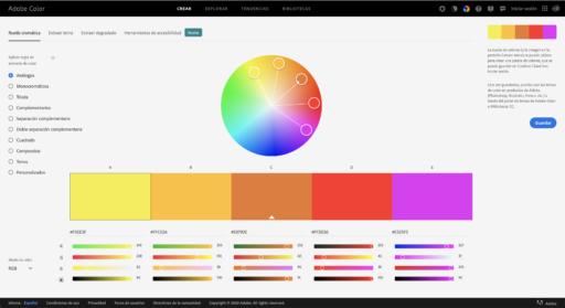 Circulo de colores en Adobe Color