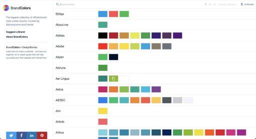 Colores de logotipos de marcas